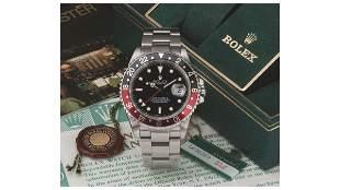 "Rolex GMT Master II ""Fat Lady"" ""Coke"" Red Black"