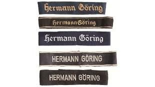 Five Hermann Goering Regiment/Division Cuff Titles