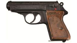 Pre-World War II Factory Engraved Walther PPK Pistol