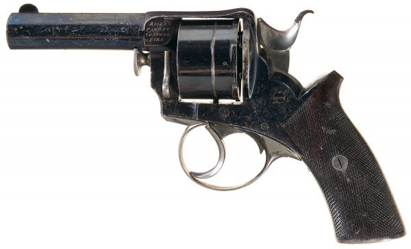 56: Rare Hill's Patent Double Action Centerfire Re...