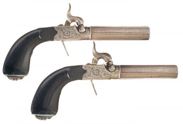 67: Pair of Engraved Belgian Screw Barrel Boxlock ...