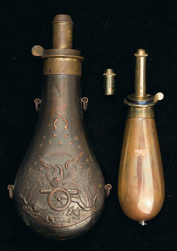 69: Two Fine Powder Flasks