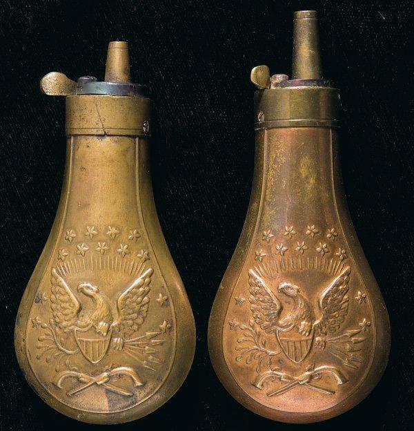 70: Two Eagle Powder Flasks