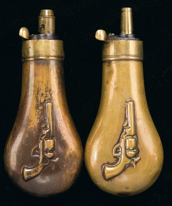 71: Two Hawksley Pistol Flasks