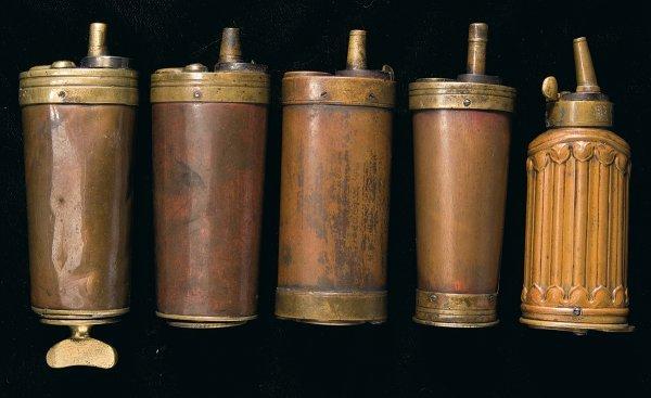 75: Five Compartment Powder Flasks