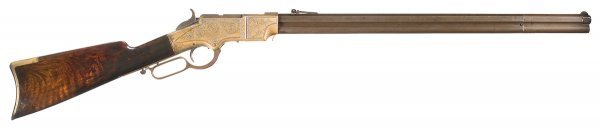 1001: Engraved New Haven Arms Henry Lever Action Rifle