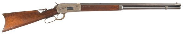 1014: Winchester Model 1886 Sporting Rifle with Case...