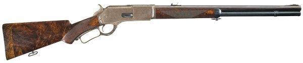 1020: Rare Winchester Deluxe Model 1876 50-95 Expres...
