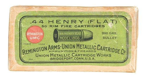 1028: Box of Remington-UMC .44 Henry Rimfire Cartridges