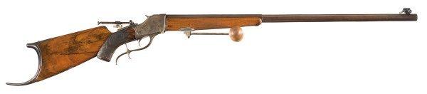 1038: Custom Schoyen Winchester Model 1885 High Wall...