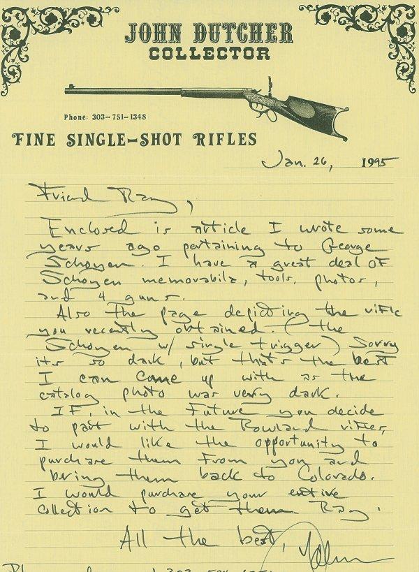 1038: Custom Schoyen Winchester Model 1885 High Wall... - 6
