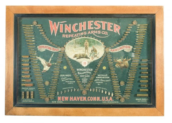 "1039: Excellent Winchester ""Double W"" Cartridge Disp..."