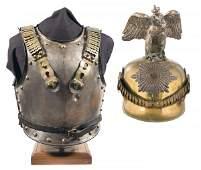 1232: European Cuirass and a Prussian Style Decorati...