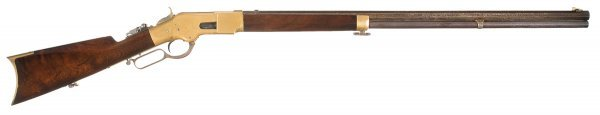 3001: Winchester Third Model 1866 Lever Action Rifle...