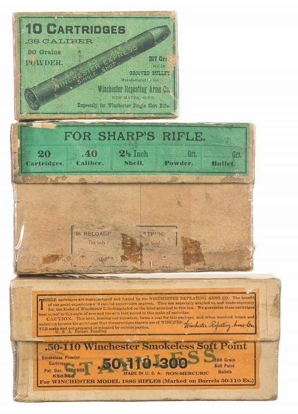 3003: Three Various Boxes of Vintage Rifle Cartridges