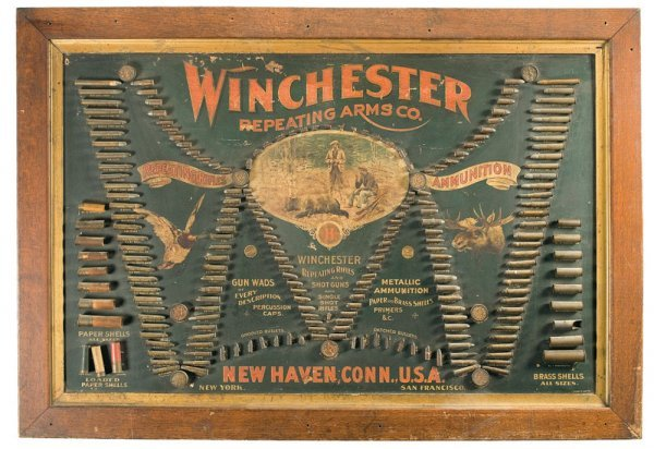 3038: Scarce and Desirable Framed Winchester Double ...