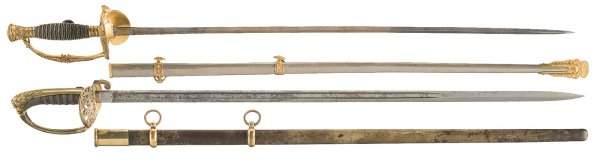3229: U.S. Post Civil War Model 1860 Staff & Field O...