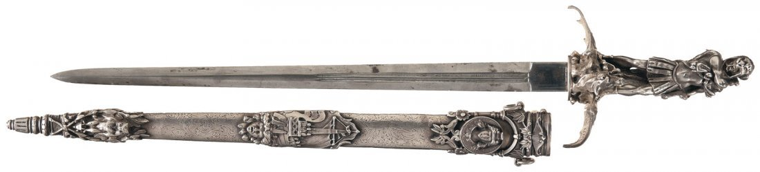 7: Superb Exhibition Grade French Hunting Sword with Fi