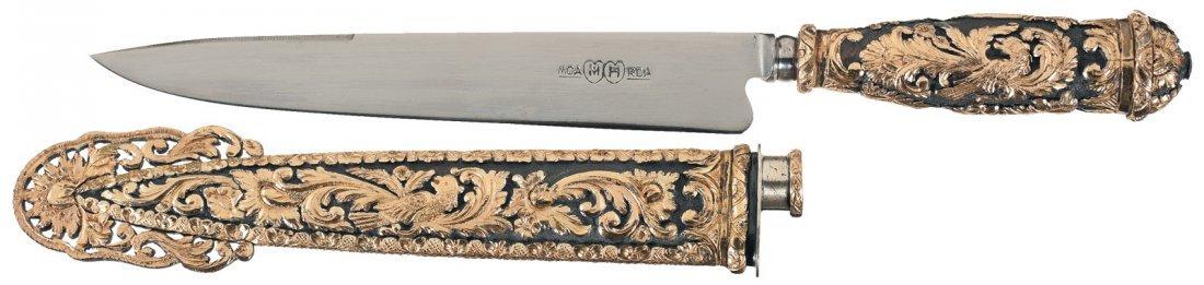 11: Extraordinary Freccero Facon Gaucho Style Knife wit