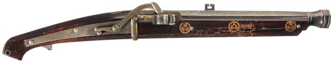 22: Silver and Gold Inlaid Japanese Matchlock