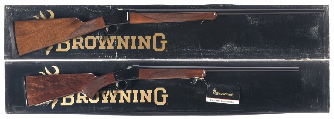 567: Two Boxed Browning Single Shot Rifles