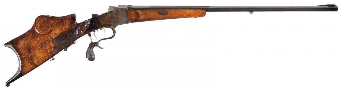 1008: Buchel Meister Single Shot Schuetzen Rifle