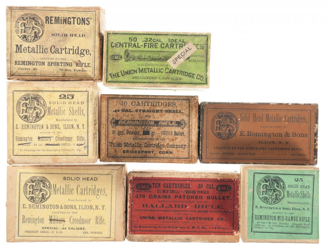 1015: Six Boxes of Vintage Rifle Ammunition and Two Box