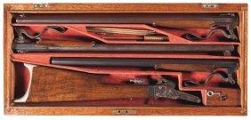 1016: Custom Cased Three Barrel Set Maynard Patent Mode