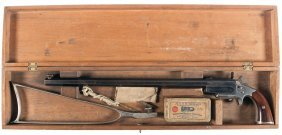 1017: Frank Wesson Pocket Rifle with Matching Stock and