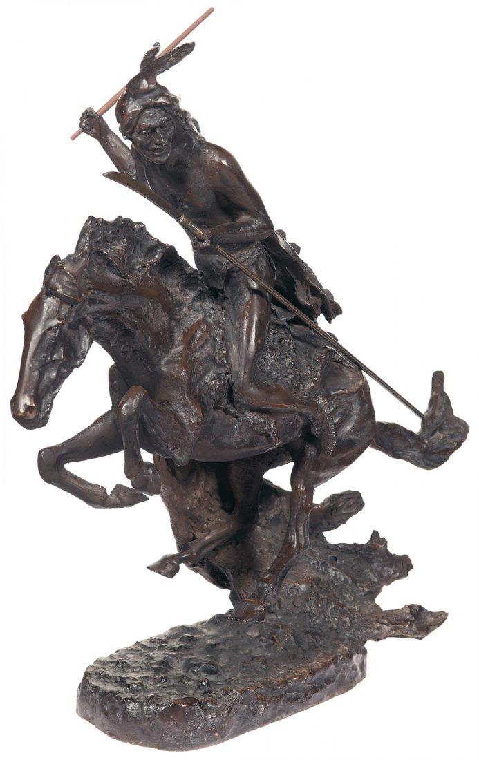 "1021: Frederic Remington's ""Cheyenne"" Bronze Statue"