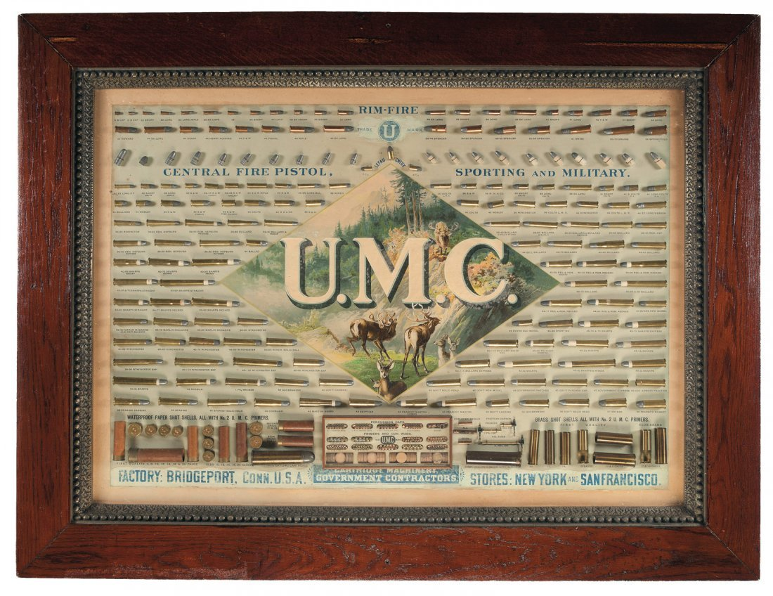 1063: Scarce Union Metallic Cartridge Display Board, wi