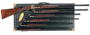 1180: Magnificent Cased Engraved Gold Inlaid Special Or