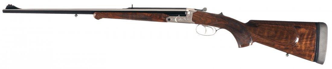 1374: Krieghoff Classic Box Lock Double Rifle in 375 Fl - 4