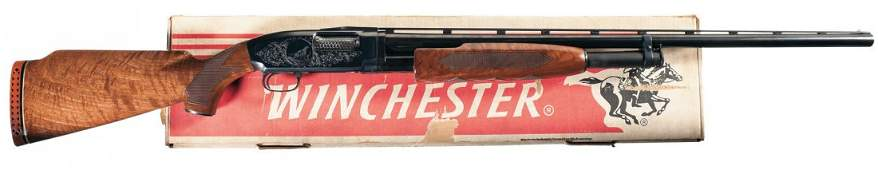1418: Factory Engraved Winchester Model 12 Pigeon Grade