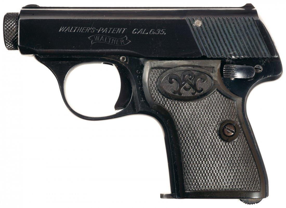 1658: Walther Model 5 Semi-Automatic Pistol