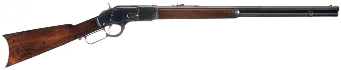 3012: Fine Winchester Model 1873 Lever Action Rifle wit