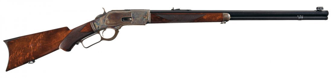 3014: Exceptional Winchester Model 1873 Deluxe Lever Ac