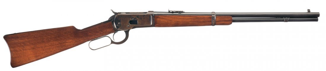 3023: Winchester Model 1892 Saddle Ring Lever Action Ca