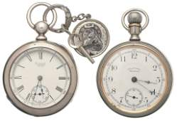 3438 Two American Waltham Watch Co Pocket Watches