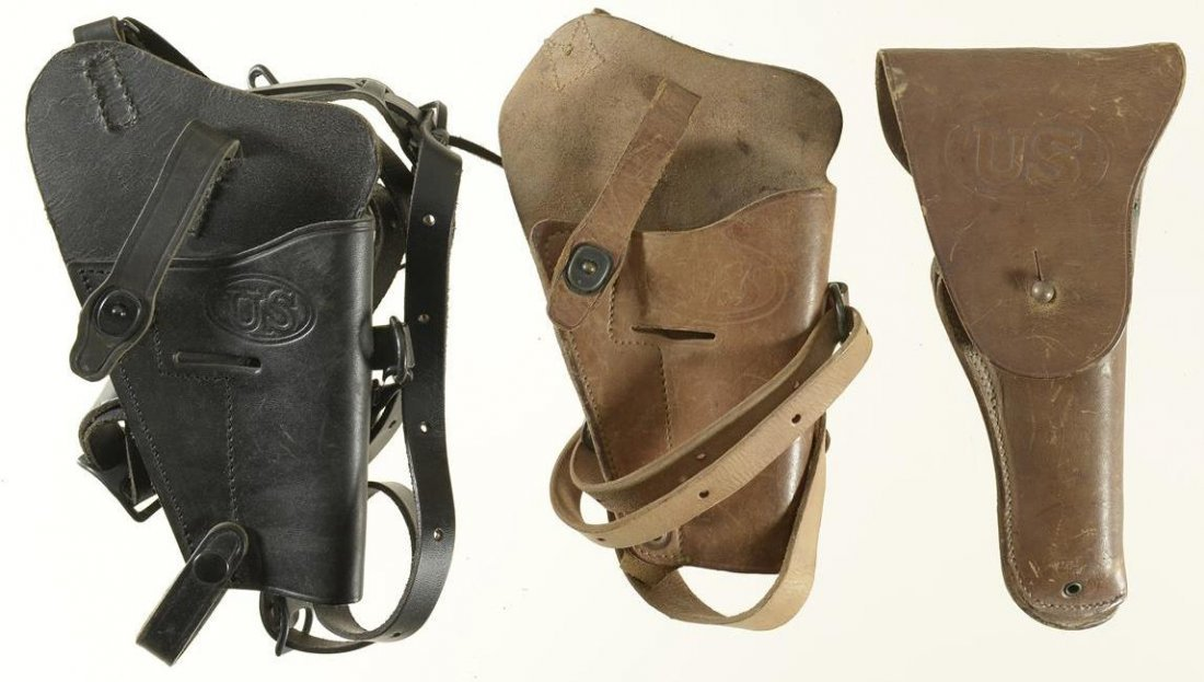 Three U.S. Marked Leather Holsters