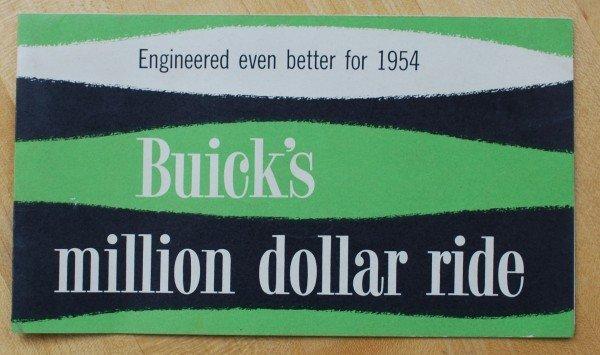 10: 1954 Buick $1,000,000 Ride Brochure