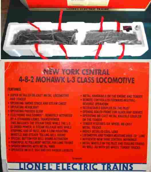 New York Central 4-8-2 Mohawk Lionel 6-18009