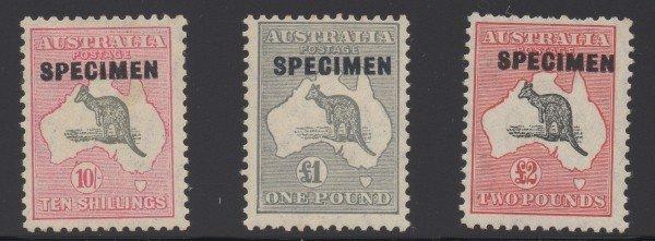 4: Australia (127-9)10S- 2Pd Kangaroos Specimens
