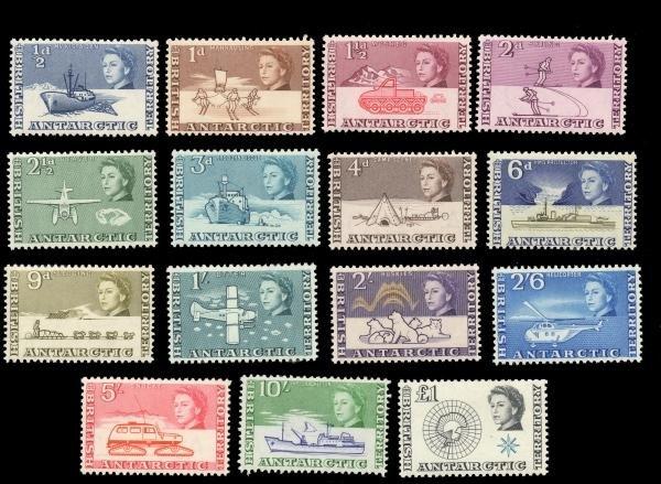 5: BAT (1-15) 1963 Definitives 1/2d - 1Pd MNH