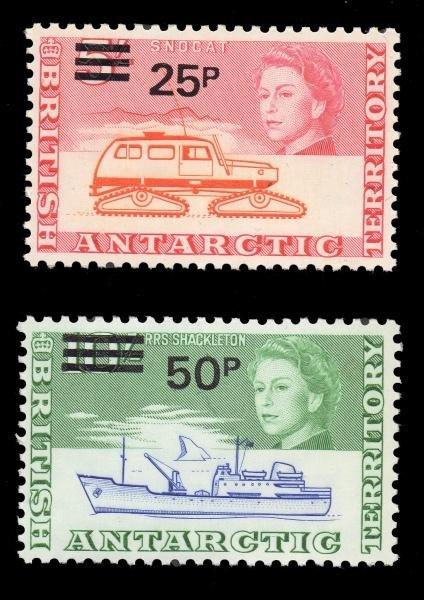 6: BAT (25-38) MNH 1971 Definitives 1/2 -50p OP MNH