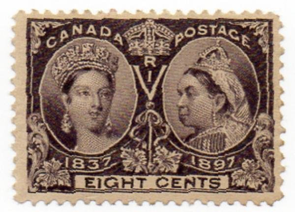 12: Canada (56) 1897 8c Jubilee Mint