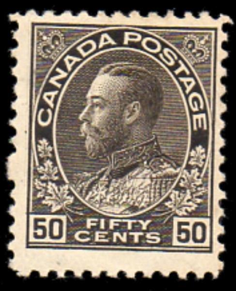 13: Canada (120) 1925 50 Cent Admiral Mint
