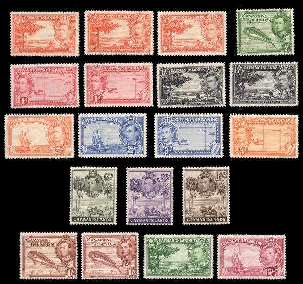 15: Cayman Islands (100-111) KGVI 1/2p-10/  MLH