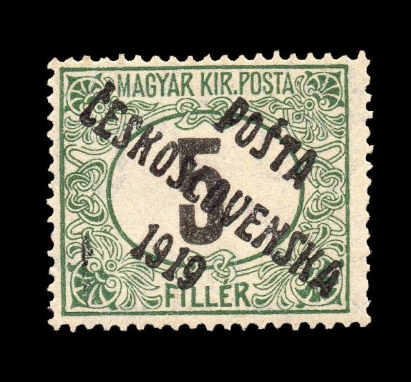 16: Czechoslovakia (B112) 1919 5f Green & Black