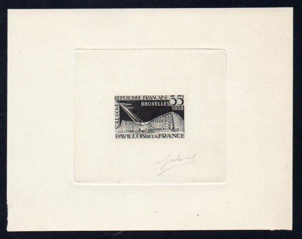 20: France (878) 1958 Brussels Black Signed Proof